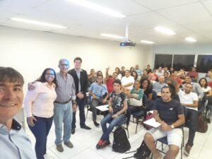 Figura 8 Apresentacao institucional na Faculdade dos Guararapes
